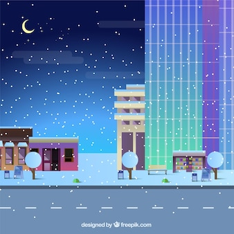 Christmas city at night