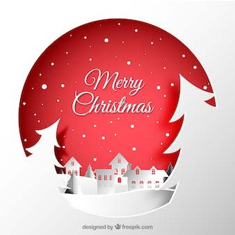 Christmas city paper background