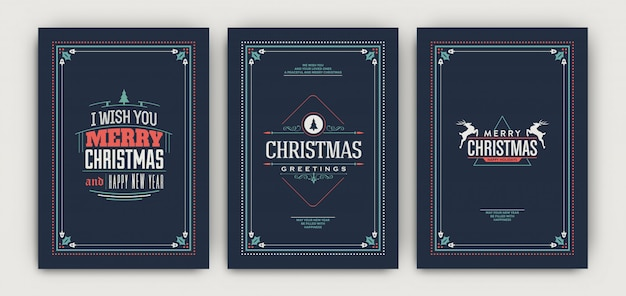 Christmas classic flyer template set