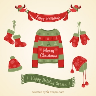 Christmas clothing card