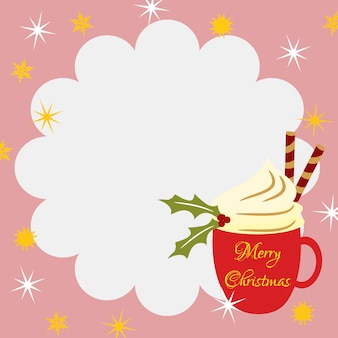 Christmas coffee background.