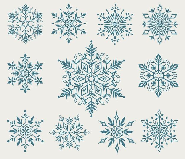 装飾的な雪片のクリスマスコレクション