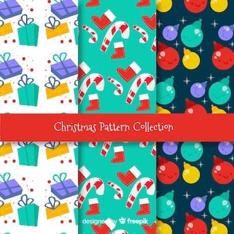 Christmas colorful decoration patterns