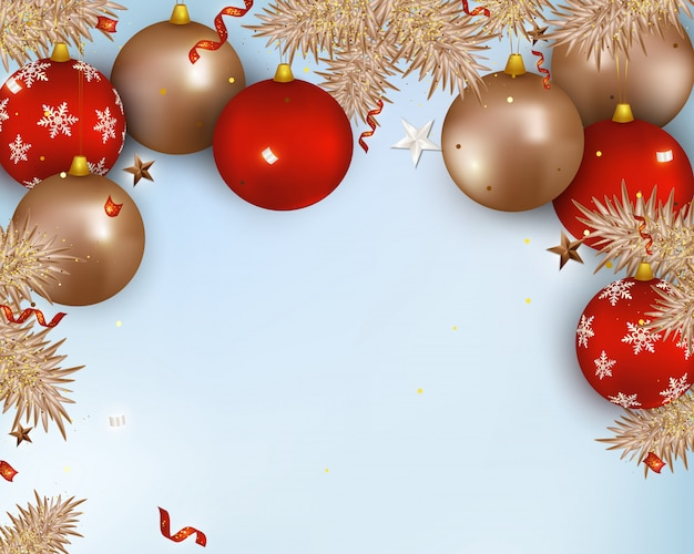 Christmas composition with copy space