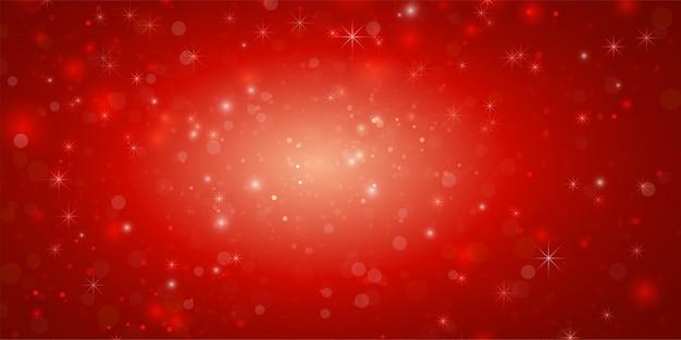 クリスマスの概念抽象的な赤い背景バナー