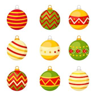 クリスマスコンセプト、クリスマスハンギングボールコレクションセット