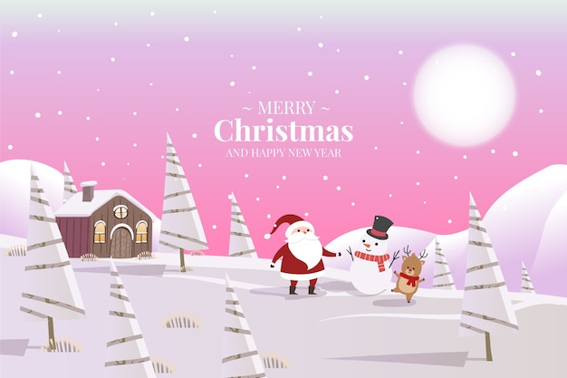 Christmas concept in flat design