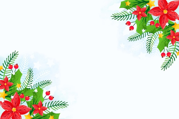 水彩でクリスマスコンセプト
