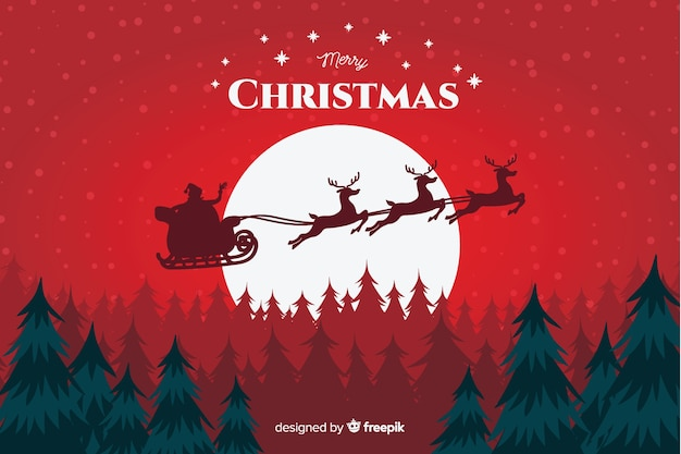 Christmas concept with hand drawn background