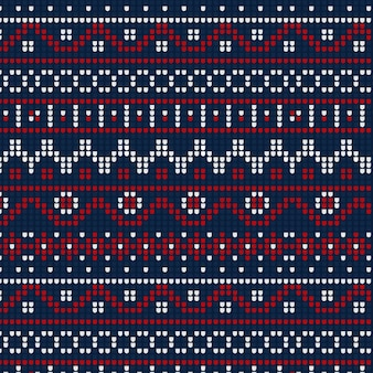 Christmas concept with knitted pattern