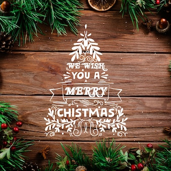Christmas concept with lettering