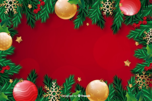 Christmas concept with realistic background