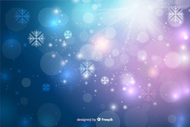Christmas concept with sparkling background