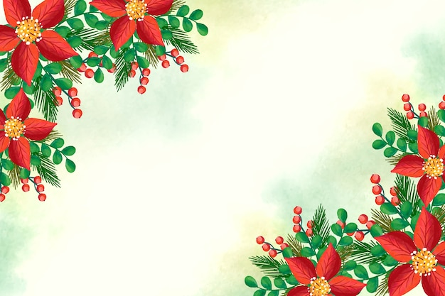 Christmas concept with watercolor background