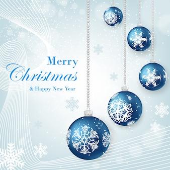 白い背景にクリスマスお祝いのカード