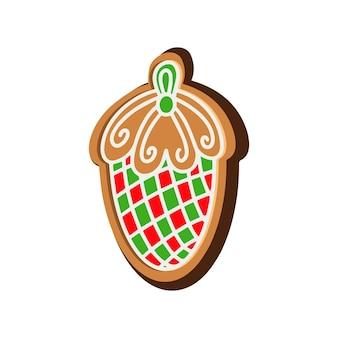 Рождественское печенье в форме конуса вектора