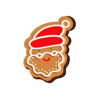 Рождественское печенье в форме санта клауса