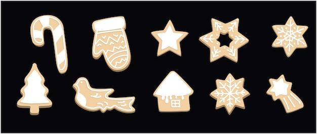 クリスマスクッキーセットジンジャーブレッドクリスマススターとホームクッキーフォーム