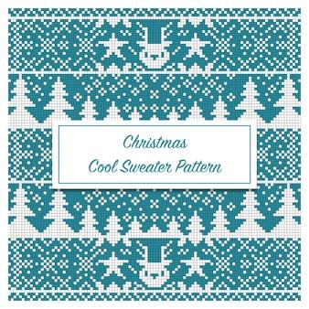 Christmas cool sweater pattern