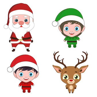 Christmas costume cartoon characters