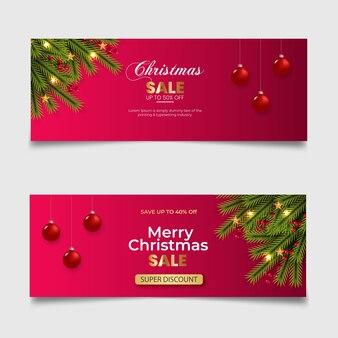 クリスマスカバー赤い背景の松の枝赤いベリーゴールデンスターの販売ポスト