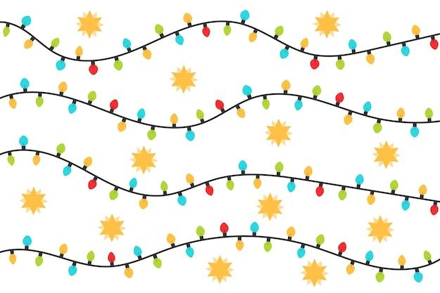 Рождественские творческие гирлянды. красочные рождественские лампочки