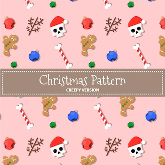 Christmas creepy pattern