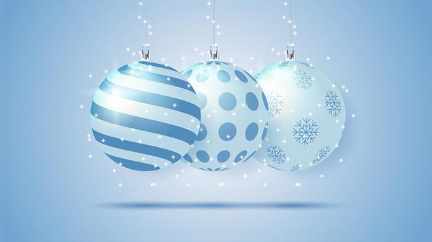 パターンとクリスマスの水晶玉コレクション