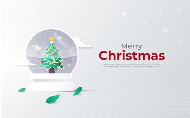 Рождественский хрустальный шар приветствие иллюстрации