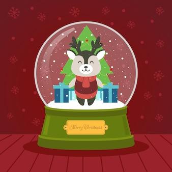 크리스마스 crystalball 순록