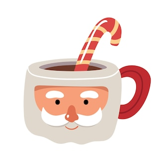 Christmas cup in the shape of santa with caramel