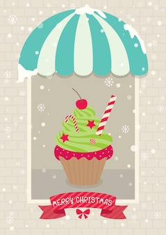 크리스마스 컵케익 카페