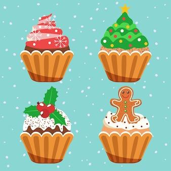 크리스마스 컵케이크.