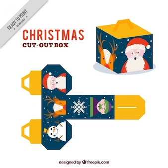 Christmas cut out box