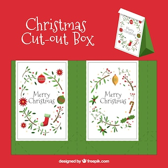 Christmas cut-out box