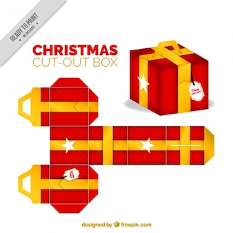 Christmas cut out gift box
