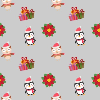 Christmas cute characters pattern