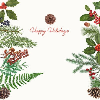 Christmas cute hand drawn decoration