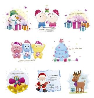 Рождество милые иллюстрации