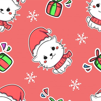 Christmas cute seamless pattern background