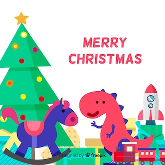 Christmas cute toys background