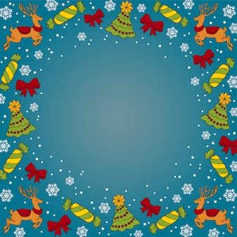 Christmas dak blue background