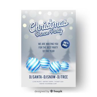 Christmas dance party banner