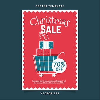 Christmas day sale discount poster