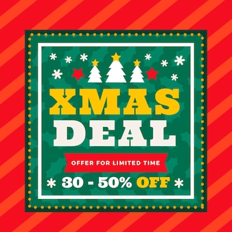 Christmas deal in flat design