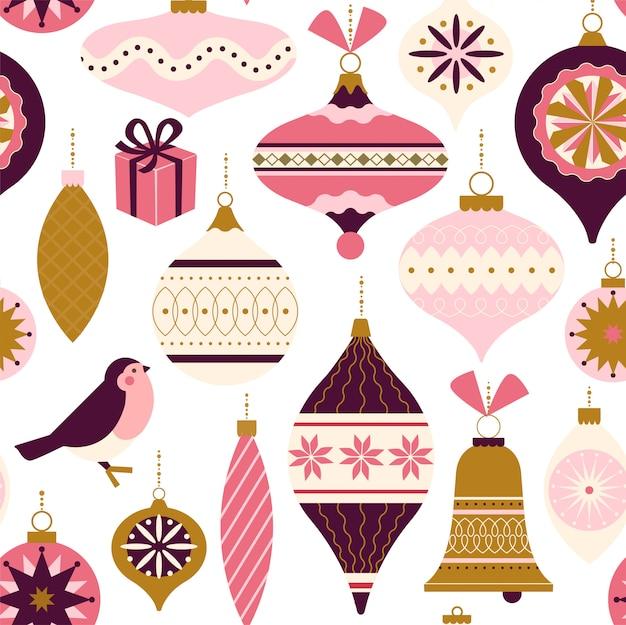 Christmas decor seamless pattern
