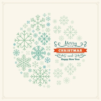 Christmas decorating design made of snowflakes
