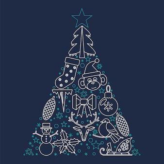 Новогоднее украшение и иллюстрация