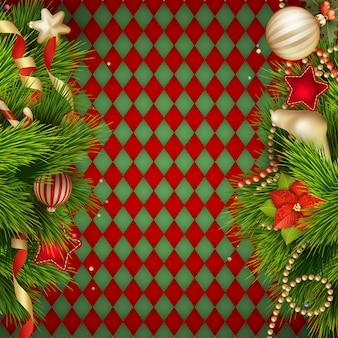 クリスマスの装飾の背景。