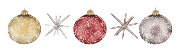 クリスマスデコレーションボールと星